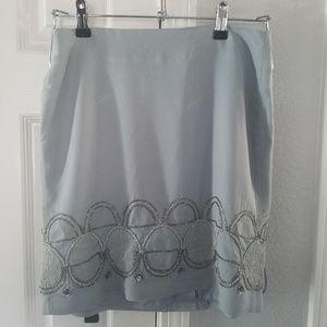 NWOT Banana Republic Beaded Slate Grey Skirt (4)